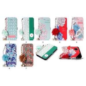 6 5 Floral for S10 flip xr max xs 파우치 + 스트랩 슬롯 ID 7 아이폰 11 S20 홀더 S9 케이스 지갑 세련된 꽃 카드 8 가죽 X 갤럭시 코브 NXNC