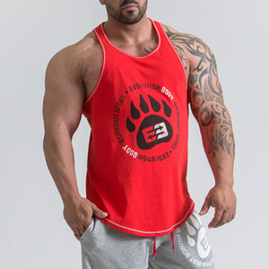 2018 Ropa de la marca Fitness Tank Top Hombre Casual Culturismo Muscle Shirt Gyms Underderhirt Moda High Quality Workout Singlets 6 Color