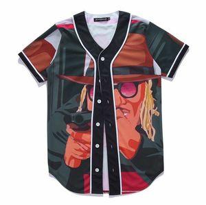 Hipster Baseball T-shirt Men Women Unisex Hip Hop Short Sleeve 3D Printed Baseball Jersey Tee Shirt Street Wear Summer Tops