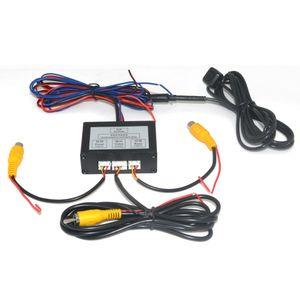 자동차 주차 카메라 비디오 채널 변환기 자동 스위치 전면 / 측면보기 / 후면보기 후면보기 카메라 비디오 컨트롤 상자 (수동)