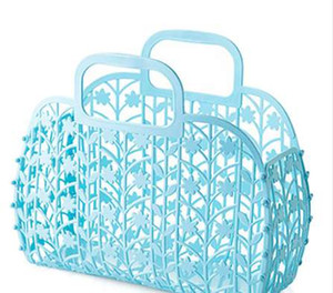 HIPSTEEN Canasta de almacenamiento portátil de plástico hueco Artículos de tocador para el baño Artículos varios Organizador Canasta