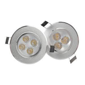 Dimmable 9W 12W Led Down Lights Led Встраиваемые потолочные светильники AC 110-240 В с источником питания для домашнего освещения Белый / Серебряный Внутреннее освещение