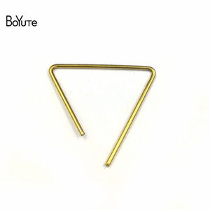 BoYuTe 100Pcs 0.8 * 21MM Metal Copper Wire Triangle Forma Accesorios Piezas hechas a mano Diy Jewelry Findings Components