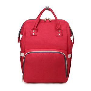 Diaper Backpack Bag Waterproof Multi-Function with Large Capacity Diaper Backpack Organizer Shoulder Bag for Mom, Dad, & Travel Walking Red