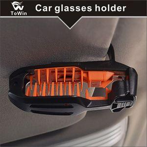 Gafas para gafas de sol Se montan con el clip de la tarjeta del boleto, caja de almacenamiento de la caja del soporte de las gafas de sol Caja de los anteojos con el titular de la tarjeta para Sunvisor