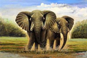 dipinto a mano di buona qualità arte della parete elefante quadri d'arte animale parete su tela arti dipinti ad olio galleria opere d'arte soggiorno