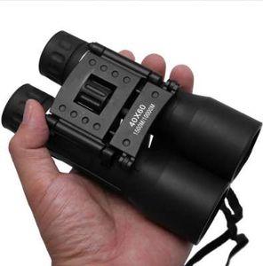 HD 40x60 쌍안경 강력한 줌 범위 장거리 망원경 이중 단안 망원경 광각 사냥 액세서리