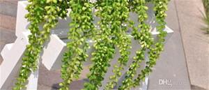 Flores exquisitas colgantes de pared Glicina de seda Ivy Vine Garland Fuentes del banquete de boda Easy Carry Fake Hang Baskets 6 5al jj
