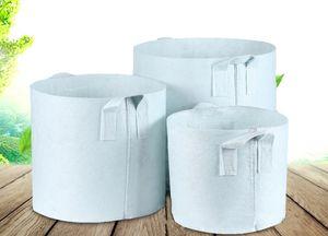 10 Dimensioni Opzione Tessuto non tessuto riutilizzabile soft-sided Pots crescere altamente traspirante Piantare borsa con manici di prezzi poco costosi Grande Planter Fiore