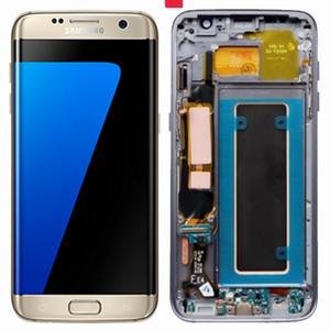 Orijinal 5.5 '' süper amoled samsung galaxy s7 edge için ekran g935 g935f sm-g935f lcd sayısallaştırıcı meclisi değiştirme + çerçeve