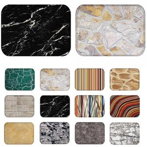 1 stücke 40 * 60 cm Stein Streifen Marmor Muster Rutschfeste Wildleder Teppich fußmatte fußmatte Outdoor Küche wohnzimmer Bodenmatte Teppich 48196