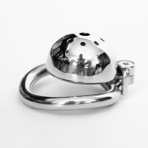 Date furtif verrouillage en acier inoxydable dispositif de chasteté masculine Super petit coq Cage pénis virginité verrouillage Cock Ring ceinture de chasteté