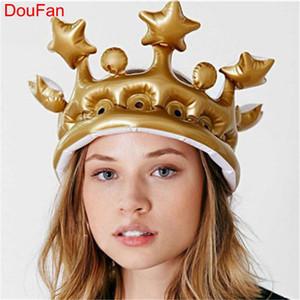 DouFan Criativo Personalizado Coroa Inflável Chapéu Inflado Evento / Festival Suprimentos Adereços Palco Decoração de Festa de Aniversário Dos Miúdos