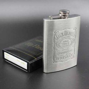 YiHAO Portable 7 oz Fiaschetta in acciaio inossidabile con scatola come regalo Whisky Flask bottiglia boccale tazza Wisky fiaschetta