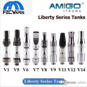 Itsuwa auténtica libertad Amigo Cartucho V1 V5 V6 V7 V8 V9 V10 V11 V12 V14 X5 tanque de vidrio grueso de aceite No Fuga original del 100%