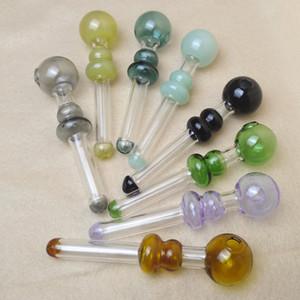 4,7 pouces braceur de verre de couleur courte mini poignée de fumage tuyaux fumer des tuyaux de haute qualité brûleurs d'huile de brûleur