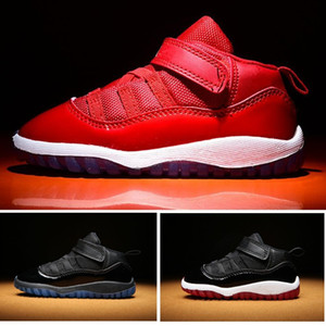Gym Rouge XI 11 Enfant Chaussures Bred Space Jam Enfants Basket Sneaker Concord Gamm Bleu Nouveau Né Bébé Infant 11s Chaussures Avec Boîte