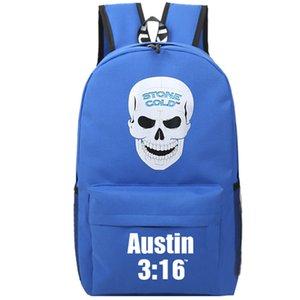 스티브 오스틴 배낭 스톤 콜드 소형 배낭 레슬링 두개골 책가방 레저 배낭 스포츠 학교 가방 야외 배낭