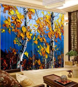 거실 용 장식 커튼 침실 공원 풍경 Blackout Curtains Window Curtain Living Room