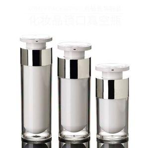 15 ml 30 ml 50 ml acryl airless vakuumpumpe lotion flasche für serum / lotion / emulsion / foundation Kosmetische Container SN1361