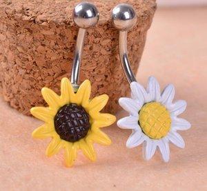 Neue Ankunft Sun Flower 316L Edelstahl Piercing Bauchnabel Ringe Piercing Bauchnabel Schmucksachen Freies Verschiffen