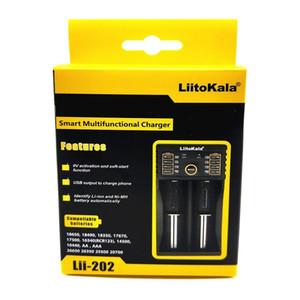 LiitoKala Lii-202 26650 16340 RCR123 14500 LiFePO4 1.2V Ni-MH Ni-Cd Rechareable pil için 18650 Batarya Şarj