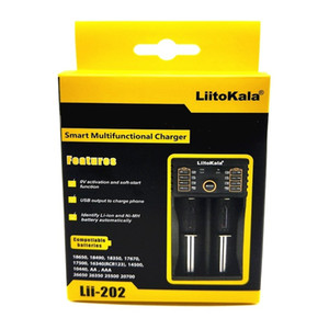 LiitoKala Lii-202 18650 Carregador de Bateria 26650 16340 14500 RCR123 LiFePO4 1.2V Ni-MH Ni-Cd rechareable Bateria