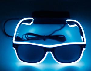 نظارات LED الحزب أزياء EL الأسلاك نظارات عيد الميلاد هالوين الحزب بار الديكور المورد نظارات مضيئة نظارات