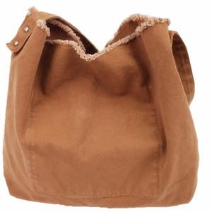 Forest Art Canvas Einfache wilde Schulter Tote Bag Shopping Crossbody Tasche einfarbig Rand Schleifen Mode einfache Mädchen Hand