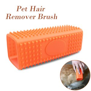 Dog Cat Pets Silicone Massage Grooming Tools Mascotas Removedor de pelo Dog Brush Green Orange Color Wholesale