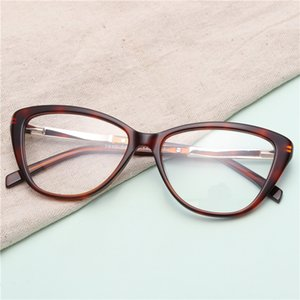Women Cat's Eye Acetate Glasses Clear  Design Fashion Optical Spectacles With Glasses Case#GP7510