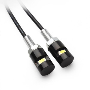 2 قطعة / الوحدة led لوحة ترخيص أضواء 12 فولت smd 5630 سيارة السيارات الجبهة عدد الذيل مصابيح لمبات التصميم برغي بولت الأبيض