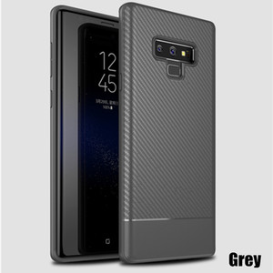 2018 ультра тонкий углеродного волокна телефон Case для Galaxy Note 9 силиконовый мягкий TPU Case для Samsung S8 S9 Plus Note 8