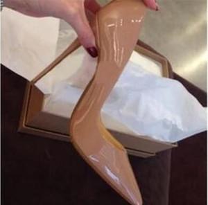 2017 frauen sexy roten boden high heels spitz pumpen büro partei schuh mode stiletto pumpe lackleder 8 cm 10 cm 12 cm