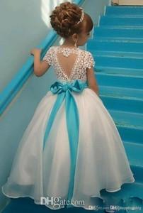 Платья для девочек-цветочков Шапочка с рукавами Девочка на День Рождения