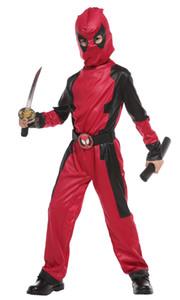 Shanghai Geschichte Kinder Deadpool Kostüm Mit Maske Mit Kapuze Dead Pool Halloween Cosplay Unisex Overalls Superheld Tod Kostüm