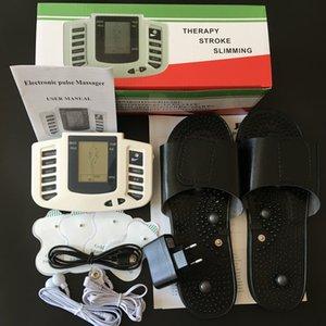 새로운 Electroestimulador 근육질의 몸 Relax Muscle Massager 맥박 Tens 침술 치료 슬리퍼 + 4 전극 패드 + 소매 상자