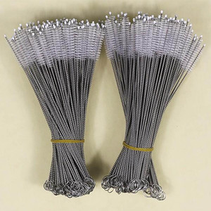 Stainless Steel Nylon Straw Cleaner Cleaning Brush For Drinking PipeTube Baby Bottle Cup Household Cleaning Tools 175*30*5mm DHL HH7-1071