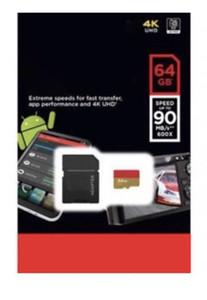 Black Android 100MB / S 95MB / S 64GB 128GB TF Tarjeta de memoria flash Clase 10 Gratis Adaptador SD Venta al por menor Paquete de ampolla Epacket DHL Envío gratis