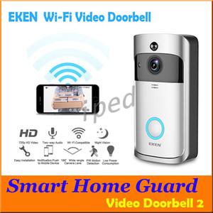 EKEN Smart Wireless Doorbell HD 720P WiFi Video Doorbell Visión nocturna Detección de movimiento Detección de movimiento Alarma Teléfono Visual Intercom Cámara Video DHL 10
