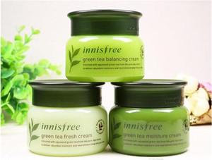 Marca coreana Innisfree té verde que equilibra / crema fresca / humectante 3 tipos de cuidado facial cuidado de la piel 50ml crema loción 50pcs