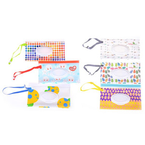 Eco-friendly Wipes Carrying Case Wet Wipes Bag 17 Colors Clamshell Cosmetic Pouch Easy-carry Snap-strap Wipes Container