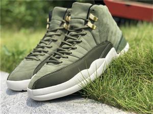 Аутентичные 12 выпускной пакет CP3 XII Крис Пол класса баскетбол обувь, 2018 новые зеленые замши 130690-301o углеродного волокна кроссовки с коробкой