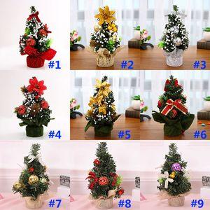 Weihnachtsbaum Weihnachtsschmuck Urlaub Party Shopping Desktop Ornament Baum 20cm Mini Xmas Day Mall Dekorationen WX9-952