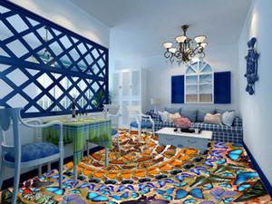 3d pavimenti personalizzati foto carta da parati 3d piastrelle per pavimenti farfalla pavimenti in pvc rotoli di carta da parati muro di mattoni 3d pavimento dipinto