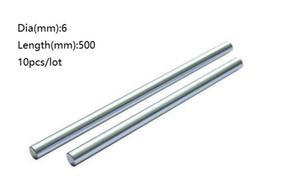 10 teile / los 6x500mm Dia 6mm linearwelle 500mm lange gehärtete stange verchromt stahlstange bar für 3d drucker teile cnc router