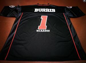 Maglia da calcio uomo Ottawa Redblacks # 1 Henry Burris nera o personalizzata con qualsiasi nome o numero maglia