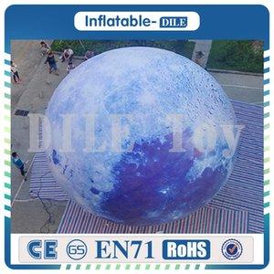 الحرة الشحن إلى الباب 4 أمتار بالون القمر للنفخ، نموذج كوكب قابل للنفخ مع ضوء للبيع