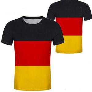 ALEMANIA camiseta personalizada personalizada nombre de bricolaje número deu camiseta nación bandera del país alemán bundesrepublik universidad imprimir foto ropa
