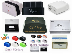 Ursprüngliches Vgate ELM327 Icar Icar2 Icar3 IV Pro OBD2 OBDII WIFI IOS Android Torque Full Protokoll Beste Qualität Freies DHL